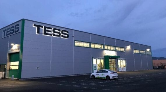 Butikk, lager og verksted for TESS, Østre Rosten