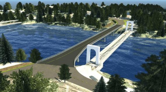 Geithus bro, Modum kommune